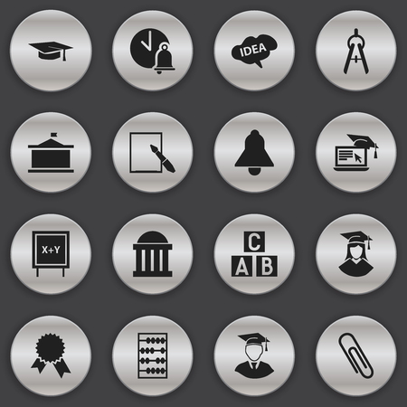 note pad: Set Of 16 Editable University Icons. Includes Symbols Such As Mind, Distance Learning, Victory Medallion And More. Can Be Used For Web, Mobile, UI And Infographic Design. Illustration