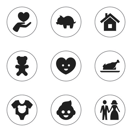 Set Of 9 Editable Folks Icons. Includes Symbols Such As Soul, Toy, Baby And More. Can Be Used For Web, Mobile, UI And Infographic Design. Imagens - 76078158