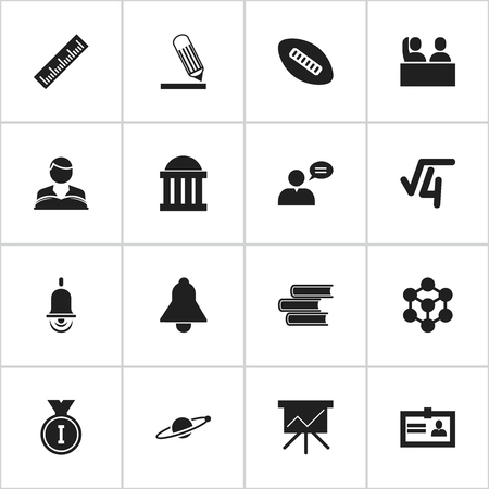 perusal: Set Of 16 Editable Science Icons. Includes Symbols Such As Library, First Place, Oval Ball And More. Can Be Used For Web, Mobile, UI And Infographic Design.