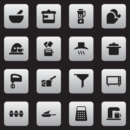 originator: Set Of 16 Editable Cook Icons. Includes Symbols Such As Slice Bread, Oven, Agitator And More. Can Be Used For Web, Mobile, UI And Infographic Design. Illustration