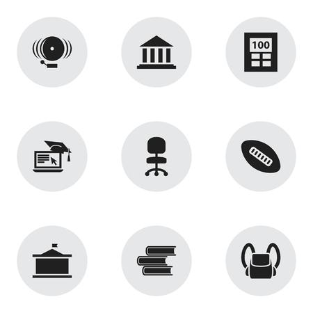 Ensemble de 9 icônes universitaires modifiables. Comprend des symboles tels que bague, université, bibliothèque, etc. Peut être utilisé pour la conception Web, mobile, UI et infographique.