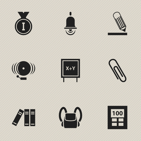 Set Of 9 Editable Graduation Icons. Includes Symbols Such As Ring, First Place, Blackboard And More. Illustration