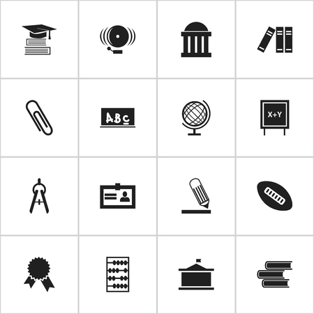 literature: Set Of 16 Editable Graduation Icons. Includes Symbols Such As Education, Oval Ball, Certification And More. Can Be Used For Web, Mobile, UI And Infographic Design.