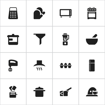 originator: Set Of 16 Editable Food Icons. Includes Symbols Such As Cookware, Oven, Utensil And More. Can Be Used For Web, Mobile, UI And Infographic Design.