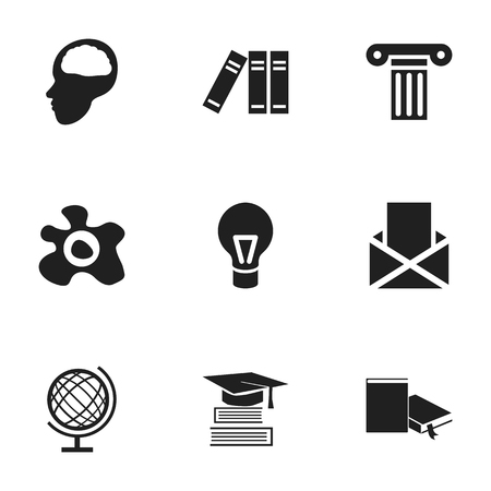 baccalaureate: Set Of 9 Editable University Icons. Includes Symbols Such As Lamp, Pillar, Education And More. Can Be Used For Web, Mobile, UI And Infographic Design.