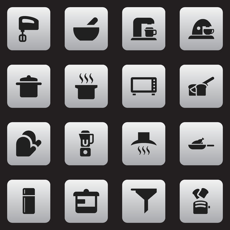 originator: Set Of 16 Editable Cook Icons. Includes Symbols Such As Agitator , Hand Mixer, Utensil. Can Be Used For Web, Mobile, UI And Infographic Design.