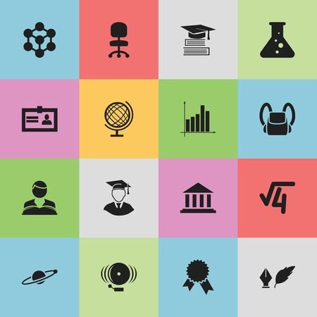 baccalaureate: Set Of 16 Editable Education Icons. Includes Symbols Such As Education, Ring, Molecule And More. Can Be Used For Web, Mobile, UI And Infographic Design.
