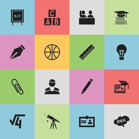 perusal: Set Of 16 Editable Science Icons.