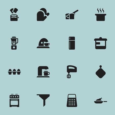 Ensemble de 16 icônes d'aliments modifiables.