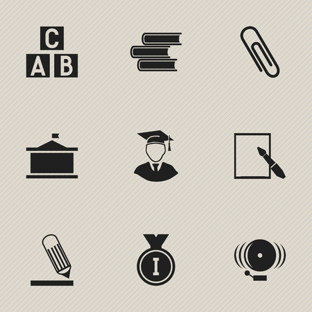 Set Of 9 Editable Graduation Icons. Includes Symbols Such As Ring, Diplomaed Male, First Place And More. Can Be Used For Web, Mobile, UI And Infographic Design.