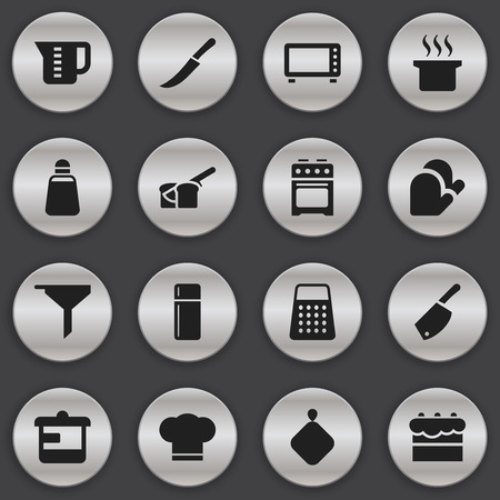 Set Of 16 Editable Food Icons. Includes Symbols Such As Oven, Bakery, Backsword And More. Can Be Used For Web, Mobile, UI And Infographic Design.