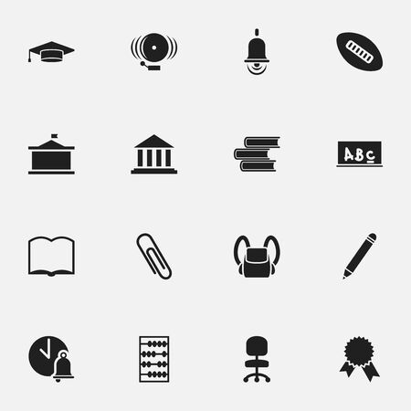 Set Of 16 Editable Science Icons.