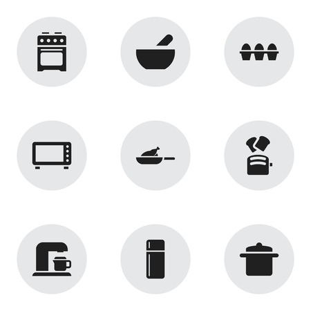 bread maker: Set Of 9 Editable Food Icons. Includes Symbols Such As Egg Carton, Slice Bread, Soup And More. Can Be Used For Web, Mobile, UI And Infographic Design.
