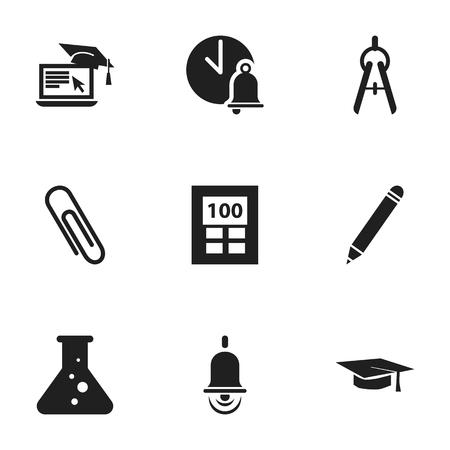 Ensemble de 9 icônes de science modifiables. Comprend des symboles tels que la chimie, calculatrice, outil de mathématiques et plus encore. Peut être utilisé pour Web, Mobile, UI et conception infographique.