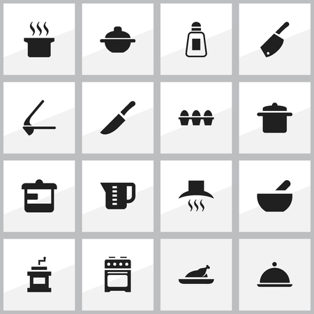 steam cooker: Set Of 16 Editable Meal Icons. Includes Symbols Such As Fried Chicken, Saucepan, Soup Pot And More. Can Be Used For Web, Mobile, UI And Infographic Design.