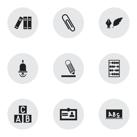 Set Of 9 Editable Education Icons. Includes Symbols Such As School Board, Certification, Staple And More. Can Be Used For Web, Mobile, UI And Infographic Design.