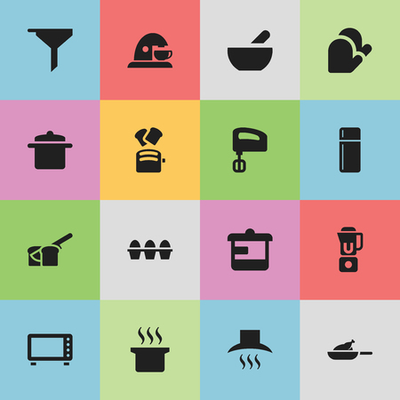 originator: Set Of 16 Editable Meal Icons. Includes Symbols Such As Oven, Filtering, Soup And More. Can Be Used For Web, Mobile, UI And Infographic Design.