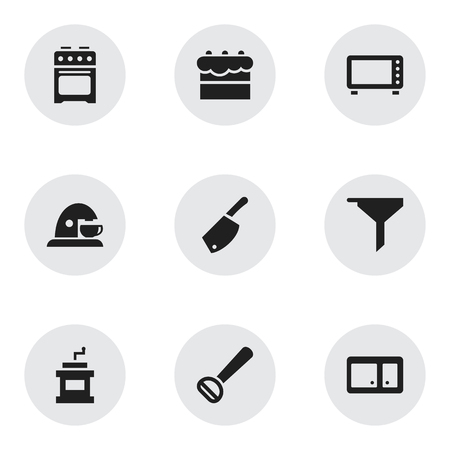 chemical peels: Set Of 9 Editable Meal Icons. Includes Symbols Such As Oven, Stove, Backsword And More. Can Be Used For Web, Mobile, UI And Infographic Design.