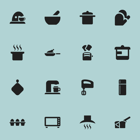 originator: Set Of 16 Editable Food Icons. Includes Symbols Such As Soup, Pot-Holder, Cup And More. Can Be Used For Web, Mobile, UI And Infographic Design.