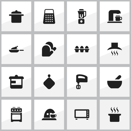 originator: Set Of 16 Editable Food Icons. Includes Symbols Such As Egg Carton , Soup Pot, Hand Mixer. Can Be Used For Web, Mobile, UI And Infographic Design.
