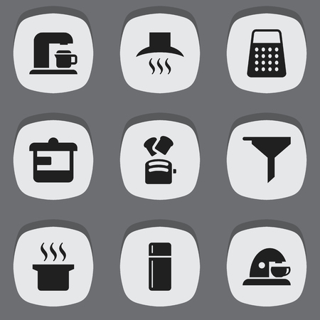 originator: Set Of 9 Editable Cooking Icons. Includes Symbols Such As Soup Pot, Shredder, Utensil And More. Can Be Used For Web, Mobile, UI And Infographic Design.