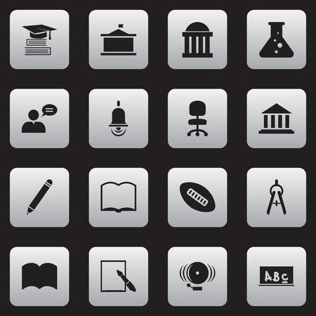Ensemble de 16 icônes de remise des diplômes modifiables. Comprend des symboles tels que la chimie, la commission scolaire, livre et plus. Peut être utilisé pour Web, Mobile, UI et conception infographique.