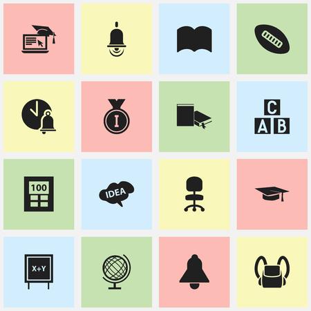 Ensemble de 16 icônes de remise des diplômes modifiables. Comprend des symboles tels que le dictionnaire, l'apprentissage à distance, chapeau de graduation, etc. Peut être utilisé pour Web, Mobile, UI et conception infographique. Vecteurs