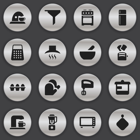 originator: Set Of 16 Editable Cook Icons. Includes Symbols Such As Egg Carton, Oven, Utensil And More. Can Be Used For Web, Mobile, UI And Infographic Design.