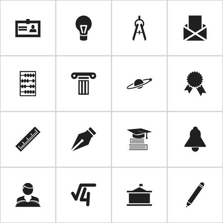 Ensemble de 16 icônes de science modifiables. Comprend des symboles tels que la certification, l'astrologie, l'université et plus encore. Peut être utilisé pour la conception Web, mobile, UI et infographique.