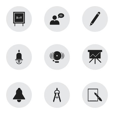 Ensemble de 9 icônes de science modifiables. Inclut des symboles tels que l'anneau, l'homme de pensée, l'outil de maths et plus. Peut être utilisé pour Web, Mobile, UI et conception infographique.