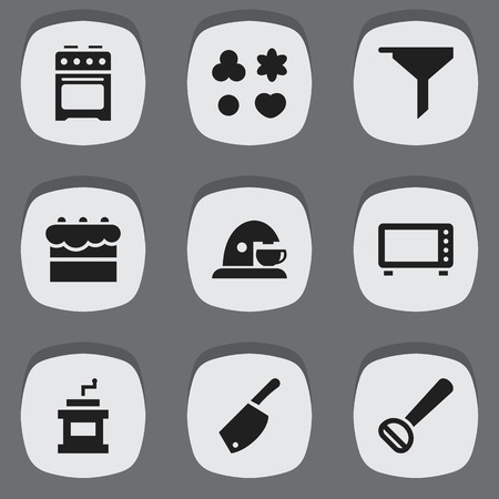 chemical peels: Set Of 9 Editable Cooking Icons. Includes Symbols Such As Pastry, Filtering, Stove And More. Can Be Used For Web, Mobile, UI And Infographic Design. Illustration