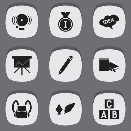 Ensemble de 9 icônes de sciences modifiables. Comprend des symboles tels que l'anneau, l'esprit, le tableau de bord et plus encore. Peut être utilisé pour le Web, mobile, l'interface utilisateur et la conception infographique.