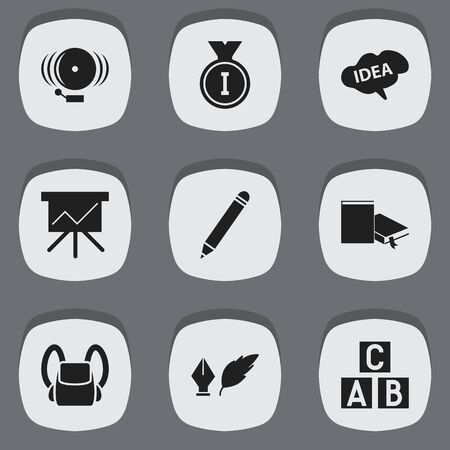 baccalaureate: Set Of 9 Editable Science Icons. Includes Symbols Such As Ring, Mind, Chart Board And More. Can Be Used For Web, Mobile, UI And Infographic Design.