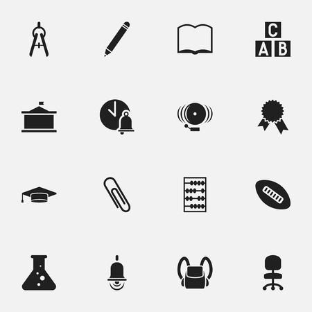 Ensemble de 16 icônes d'éducation modifiables. Comprend des symboles tels que diplômé, médaillon de la victoire, crayon, etc. Peut être utilisé pour la conception Web, mobile, UI et infographique.