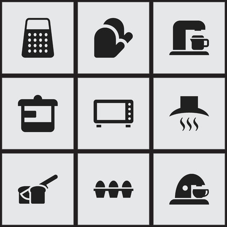 originator: Set Of 9 Editable Food Icons. Includes Symbols Such As Egg Carton, Oven, Utensil And More. Can Be Used For Web, Mobile, UI And Infographic Design.