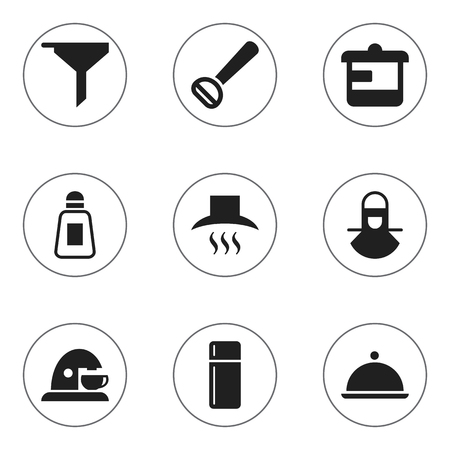 originator: Set Of 9 Editable Cooking Icons. Includes Symbols Such As Filtering, Utensil, Salver And More. Can Be Used For Web, Mobile, UI And Infographic Design.