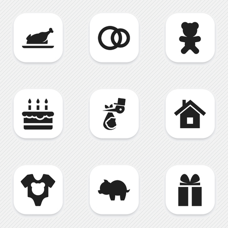 Set Of 9 Editable Folks Icons. Includes Symbols Such As Bodysuit, Hoop, Home And More. Can Be Used For Web, Mobile, UI And Infographic Design. Imagens - 77356296