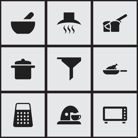 originator: Set Of 9 Editable Food Icons. Includes Symbols Such As Bakery, Soup, Cup And More. Can Be Used For Web, Mobile, UI And Infographic Design.