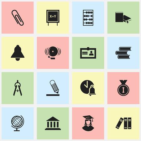 Ensemble de 16 icônes d'éducation modifiables. Comprend des symboles tels que femme diplômée, arithmétique, planète Terre, etc. Peut être utilisé pour la conception Web, mobile, UI et infographique. Vecteurs