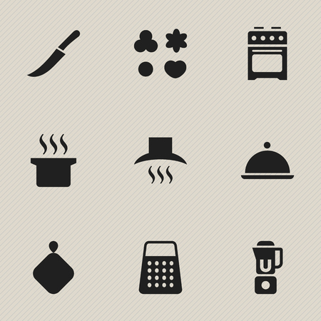 steam cooker: Set Of 9 Editable Cooking Icons. Includes Symbols Such As Pot-Holder, Soup Pot, Stove And More. Can Be Used For Web, Mobile, UI And Infographic Design.