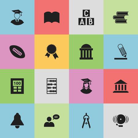 Ensemble de 16 icônes de science modifiables. Comprend des symboles tels que l'homme pensant, l'écriture, la salle d'audience et plus encore. Peut être utilisé pour la conception Web, mobile, UI et infographique. Vecteurs