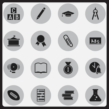 magazine stack: Set Of 16 Editable University Icons. Includes Symbols Such As Math Tool, Victory Medallion, Univercity And More. Can Be Used For Web, Mobile, UI And Infographic Design.
