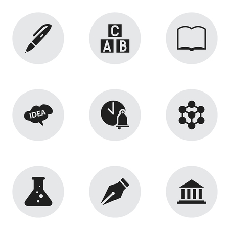 baccalaureate: Set Of 9 Editable University Icons. Includes Symbols Such As Museum, Book, Nib And More. Can Be Used For Web, Mobile, UI And Infographic Design.