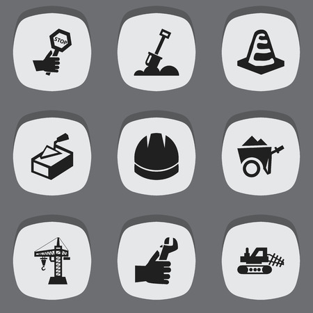 Editable Structure Icons Illustration