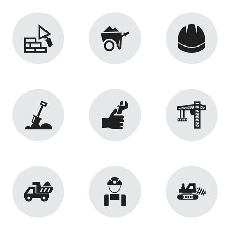 ampoule: Set Of 9 Editable Structure Icons. Includes Symbols Such As Mule, Facing, Employee And More. Can Be Used For Web, Mobile, UI And Infographic Design. Illustration