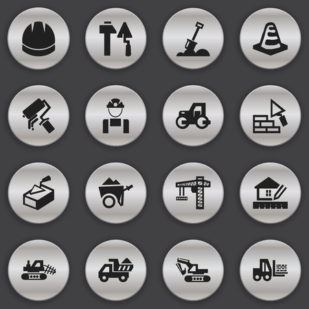 Set Of 16 Editable Structure Icons. Includes Symbols Such As Mule, Employee , Handcart. Can Be Used For Web, Mobile, UI And Infographic Design.