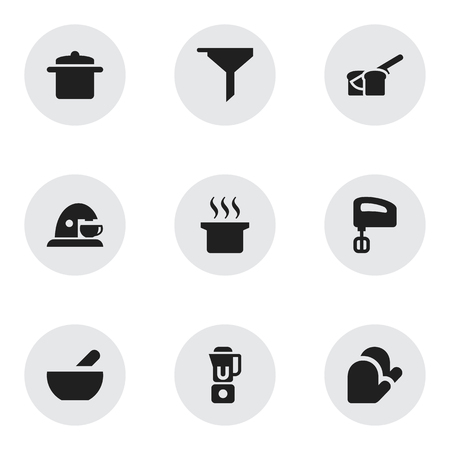 originator: Set Of 9 Editable Cook Icons. Includes Symbols Such As Soup Pot, Bakery, Cookware And More. Can Be Used For Web, Mobile, UI And Infographic Design.