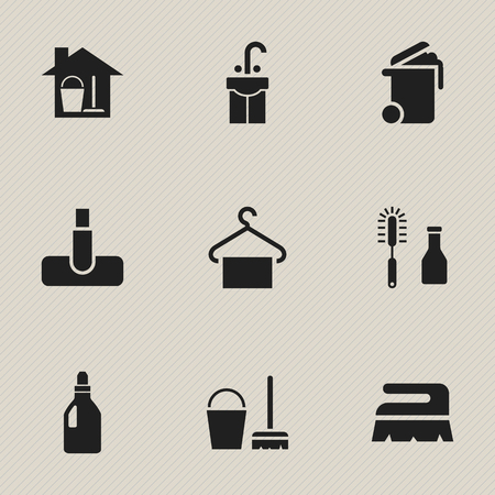 washstand: Editable Cleaning Icons