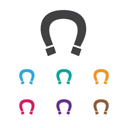 Vector Illustration Of Business Symbol On Horseshoe Icon Premium