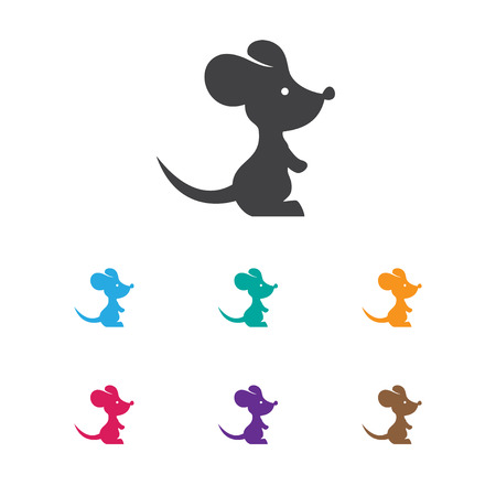 Vector Illustration Of Zoology Symbol On Rat Icon. Premium Quality Isolated Mouse Element In Trendy Flat Style.